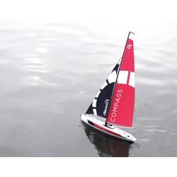 Barco Veleiro 791-1 Compass tipo Competição RG65 650mm ARTR