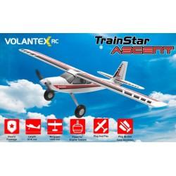 Avião de Treino Trainstar Ascent 1400mm Volantex C/Giro Estabilizador RTF
