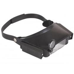 Lupa de Cabeça com Luz(led) e 3 lentes(1.8/2.6x/5.8x)