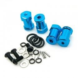 Alargadores 1/10 Aluminio 20mm Azul