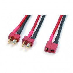 Y-LEAD PARALLEL DEANS, SILICON WIRE 14AWG (1PC)