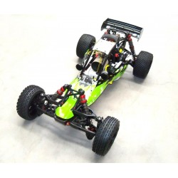 Carro Gasolina 1: 5 Baja Rovan Sports 320A,Motor 2T 32CC Green Energy RTR completo