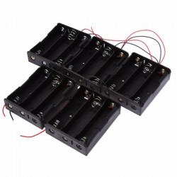 Suporte de Baterias 3x18650 c/ fio 130mm
