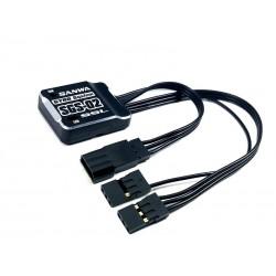 SGS-02 GYRO SYSTEM SXR-KOMPATIBEL SANWA 3,7-7,4 VOLT 27.6X22.6X8,0MM 11,4G