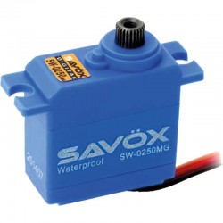 Servo SAVÖX SW-0250MG WATERPROOF DIGITAL SERVO 6V 0,11S/60° - 5KG POSITIONING FORCE