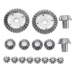 Conjunto de 16 Engrenagens metálicas WLToys 12428/A/B/C 12423